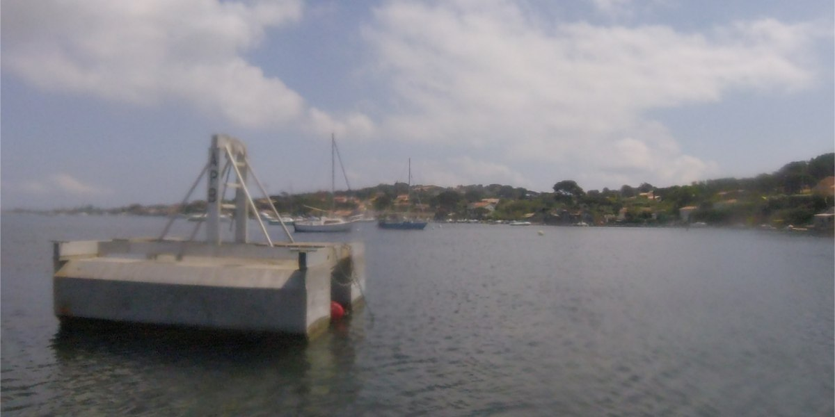 barge avec palan
